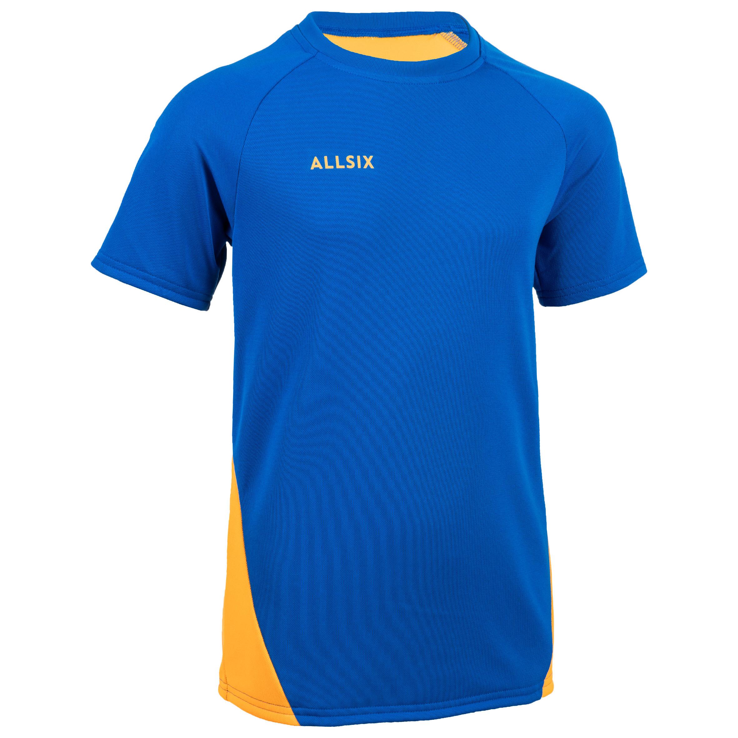Allsix Volleybalshirt jongens V100 blauw/geel