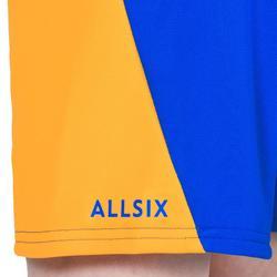 Short V100 de volley-ball garçon bleu et jaune