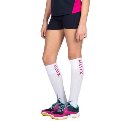 Short de volley-ball V100 fille bleu