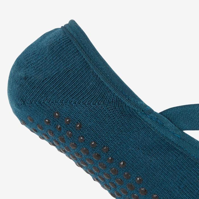 Antislip ballerinasokken voor pilates en lichte gym 500 eendenblauw
