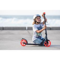 Scooter Mid 7 mit Ständer marineblau/orange