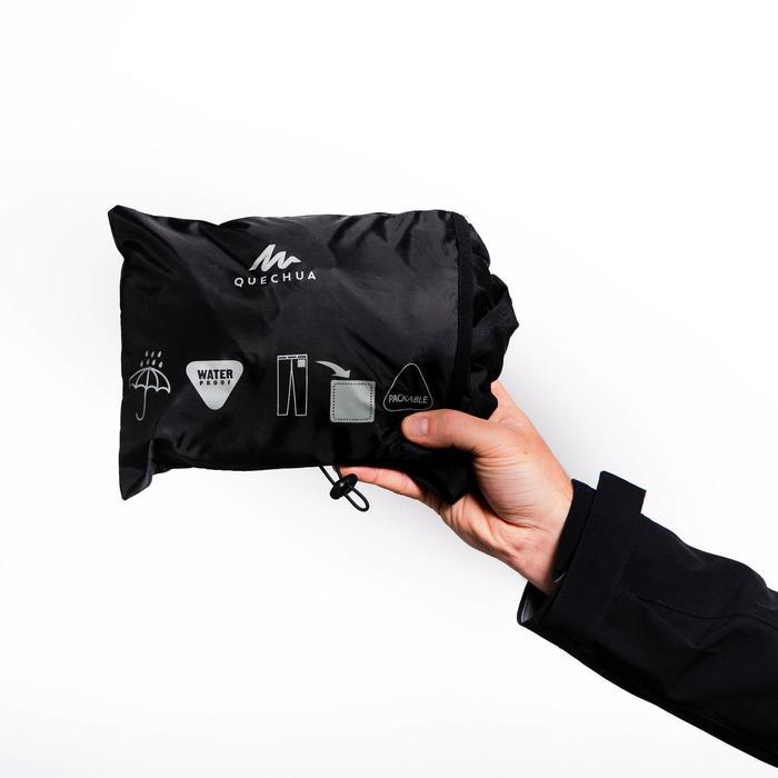 Heren regenbroek voor bergwandelen MH500 zwart