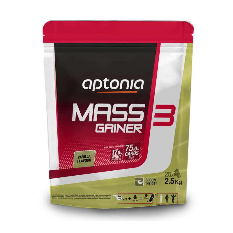 PROTEINY / DOPLŇKY STRAVY Fitness - MASS GAINER 3 VANILKOVÝ 2,5 KG DOMYOS - Proteiny a doplňky stravy