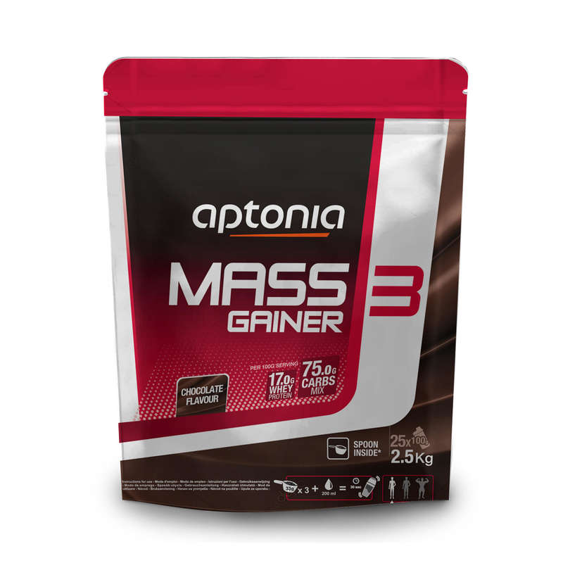 PROTEÍNAS E SUPLEMENTOS ALIMENTARES FITNESS - MASS GAINER 3 Chocolate 2,5 kg DOMYOS - All Catalog