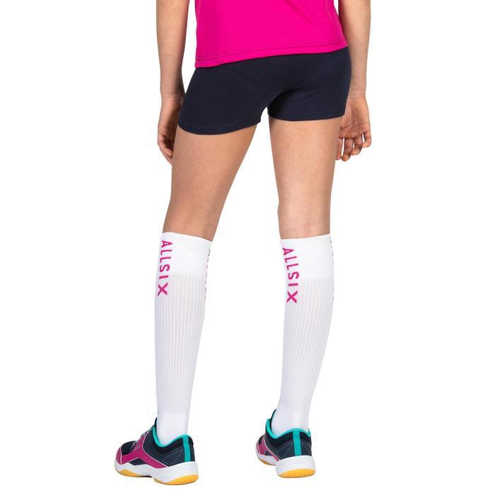 Pantalón corto de Voleibol Allsix V100 niña azul marino