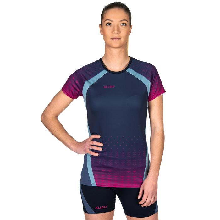 Volleyballtrikot V500 Damen blau