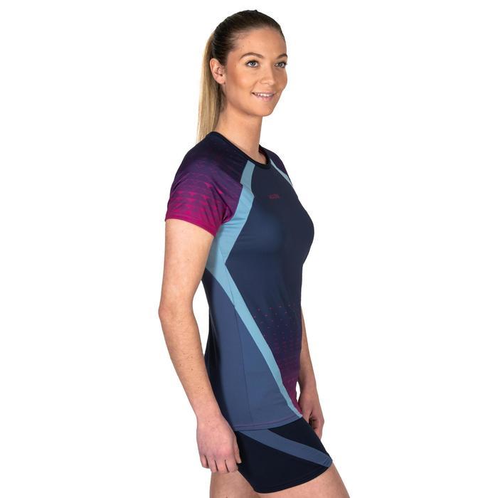 女款排球運動衫V500-軍藍色