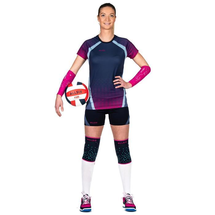 Genouillères de volley-ball V500 bleues et roses