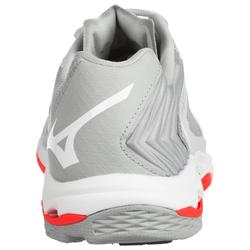 CHAUSSURES DE VOLLEY-BALL FEMME WAVE LIGHTNING CORAIL ET BLANCHES MIZUNO