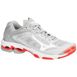 Dames volleybalschoenen Wave Lightning koraal en wit Mizuno