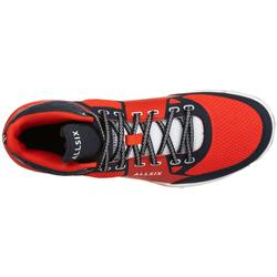 Chaussures mid homme de volley-ball V500 rouges et bleues