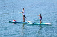 ADJUSTABLE SPLIT STAND-UP PADDLE SUP BOARD 100 PADDLE 140-180cm SMALL SIZES BLUE