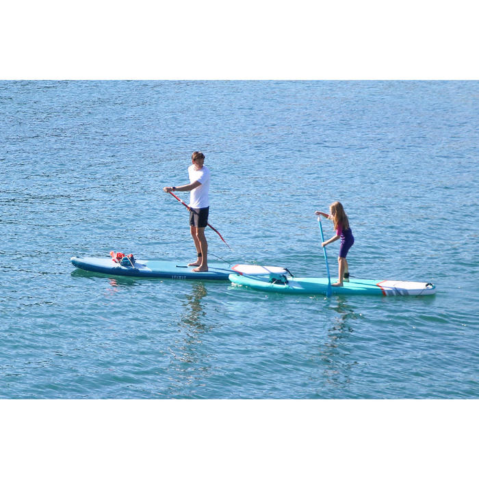 PAGAIE STAND UP PADDLE 100 DEMONTABLE REGLABLE 140-180 CM PETITS GABARITS BLEU
