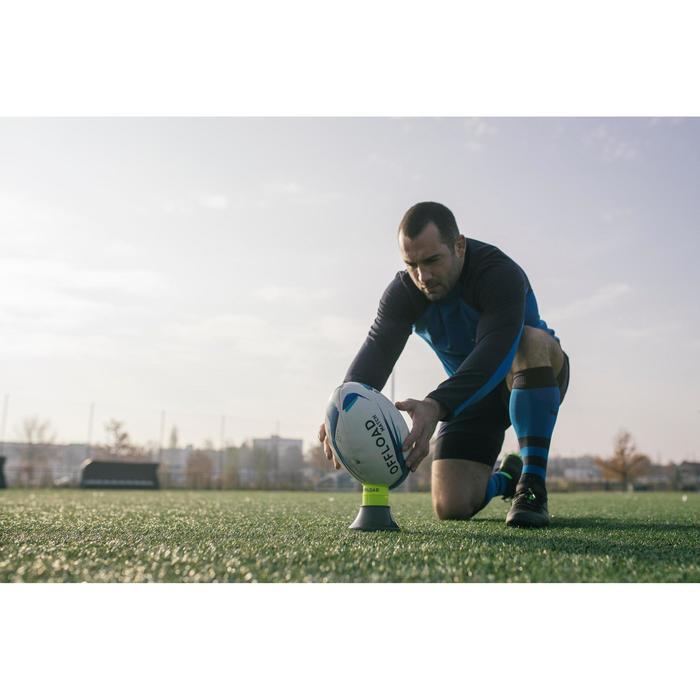 Verstelbare kicking tee voor rugby R500 kaki geel