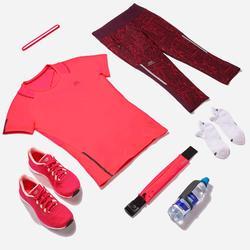 Mallas Piratas Leggings Deportivos Running Kalenji Run Dry+ Mujer Violeta