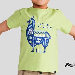 兒童款健行T恤MH100-綠色