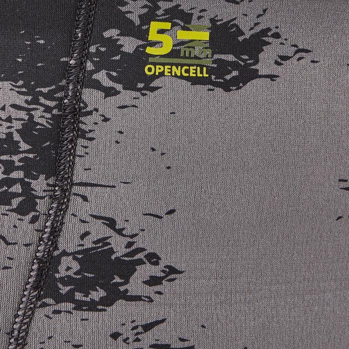 Duikbroek SPF 500 in glad neopreen van 5 mm met dissymmetrisch patroon