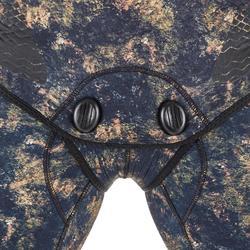 Camouflage duikvest SPF500 in glad neopreen van 5 mm voor harpoenvissen