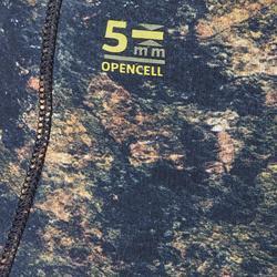 Neoprenhose Apnoetauchen SPF 500 Glattneopren 5mm khaki/tarnfarben