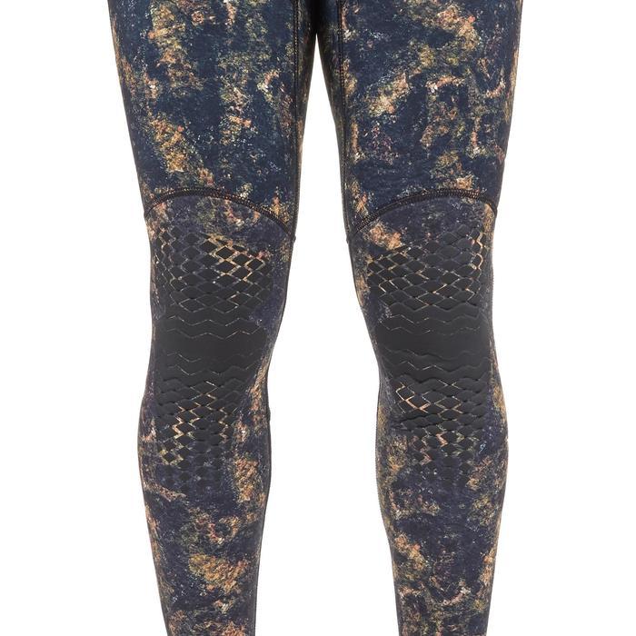Pantalon chasse sous-marine camouflage réaliste kaki néoprène 5mm refendu SPF500
