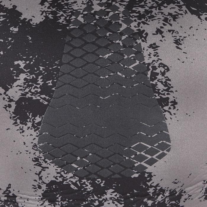 Duikvest SPF500 in glad neopreen van 5 mm met asymmetrisch patroon