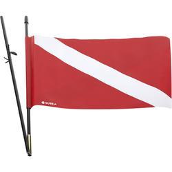 Mastro+Bandeira de sinalização para mochila estanque e prancha de caça Subea