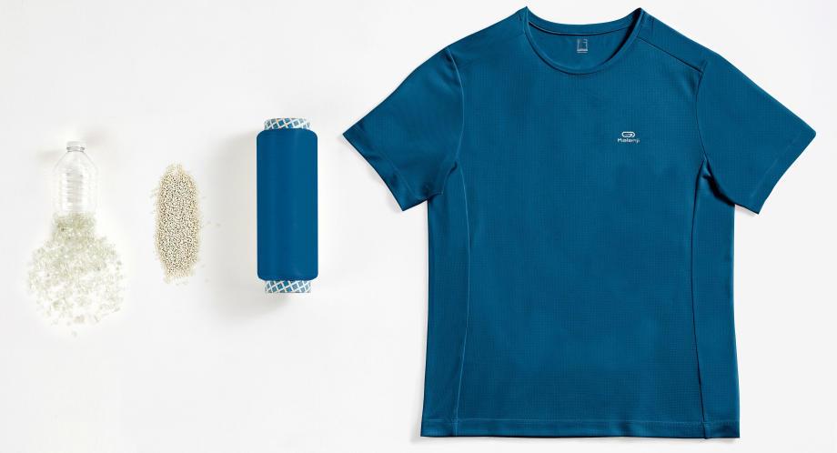 迪卡儂環保產品:快乾排汗跑衣