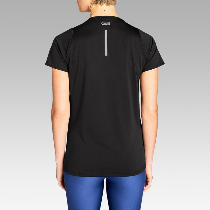 Dames T-shirt voor jogging Run Dry zwart