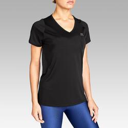 Hardloop T-shirt voor dames Run Dry zwart