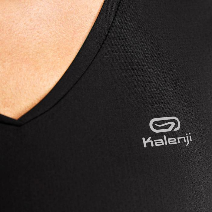 Hardloop-T-shirt voor dames Run Dry zwart