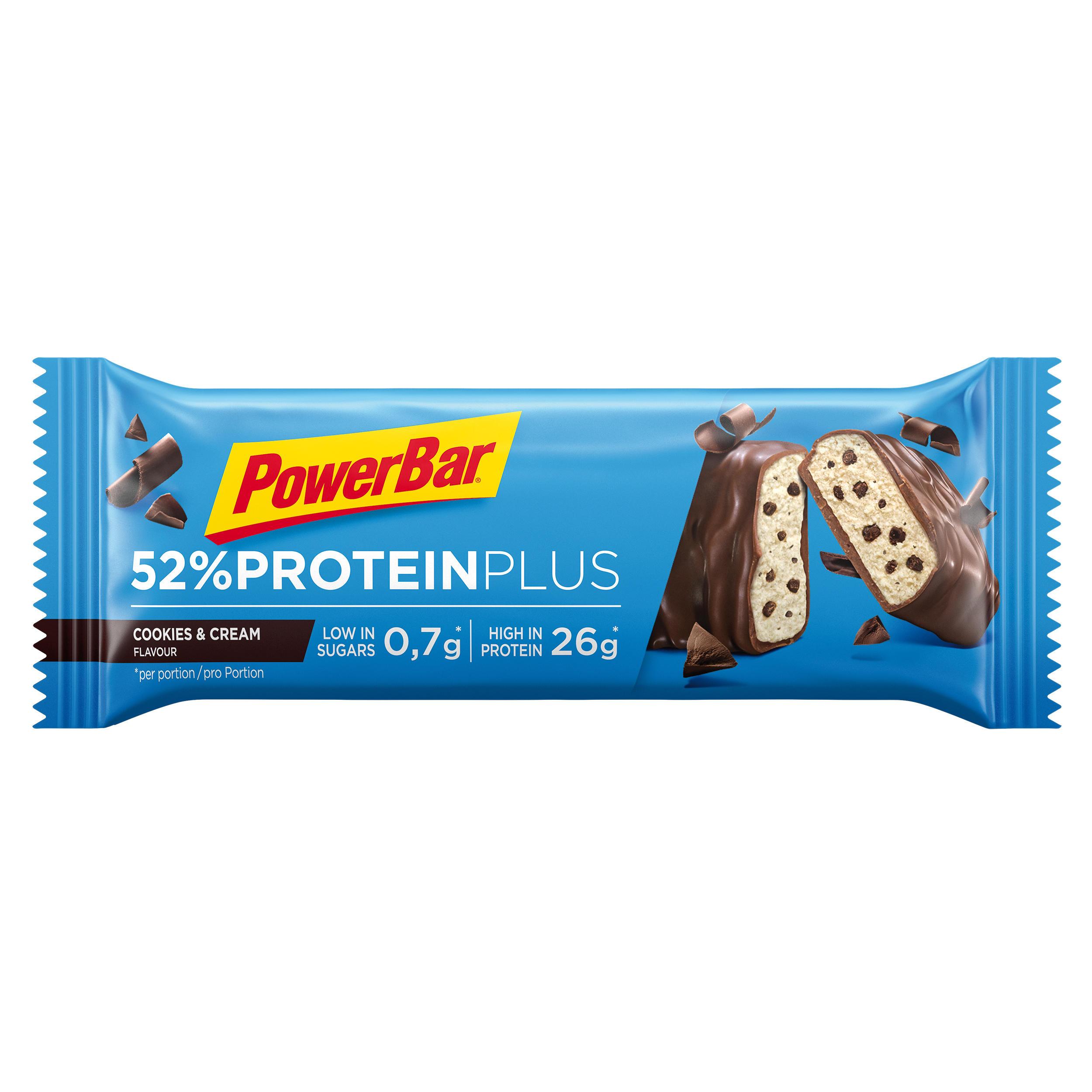Proteinriegel Protein Plus 52 % 50 g Cookie & Cream