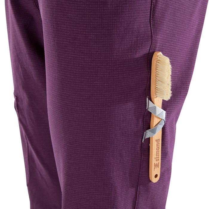 PANTALON D'ESCALADE TECHNIQUE STRETCH FEMME - COULEUR PRUNE