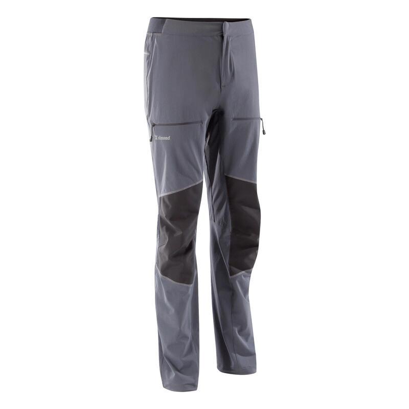 Pantalones de Escalada y Alta Montaña Hombre Simond Rock 2 Gris