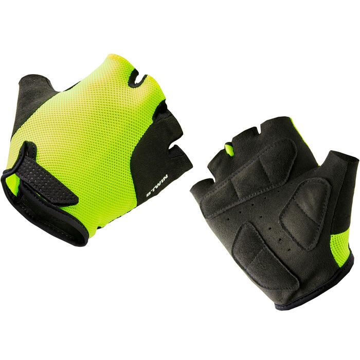 Kids' Cycling Gloves 500 - Yellow