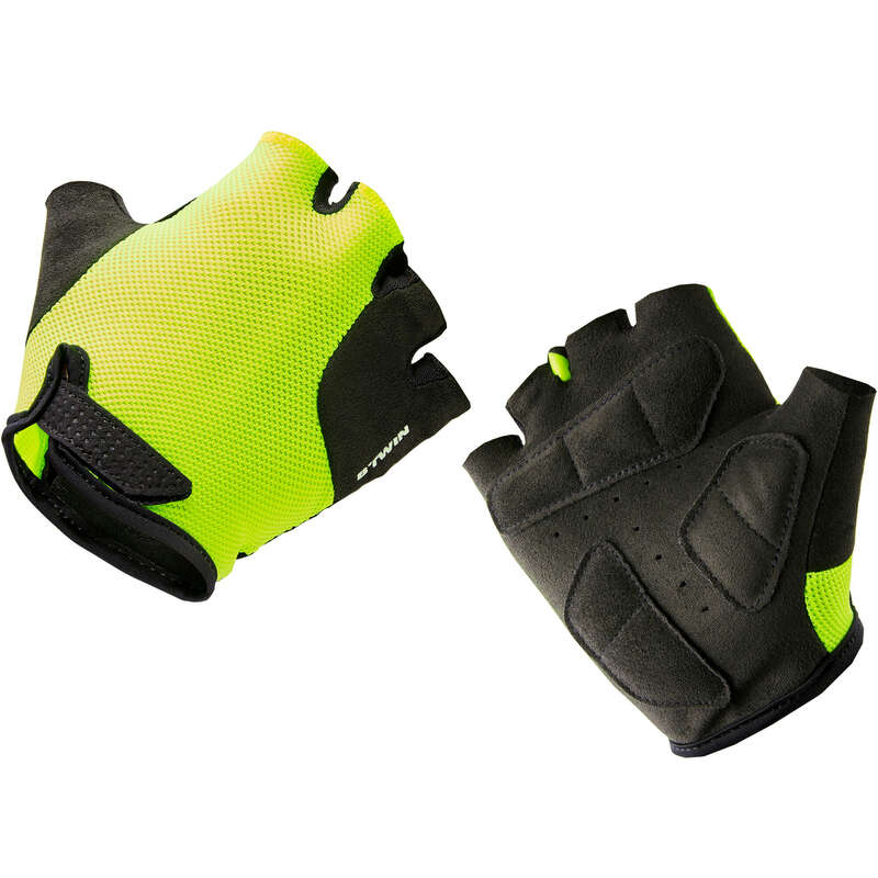 JR MTB ROAD WARM WEATHER APPAREL Cycling - 500 Kid's Cycling Gloves - Yellow B'TWIN - Clothing