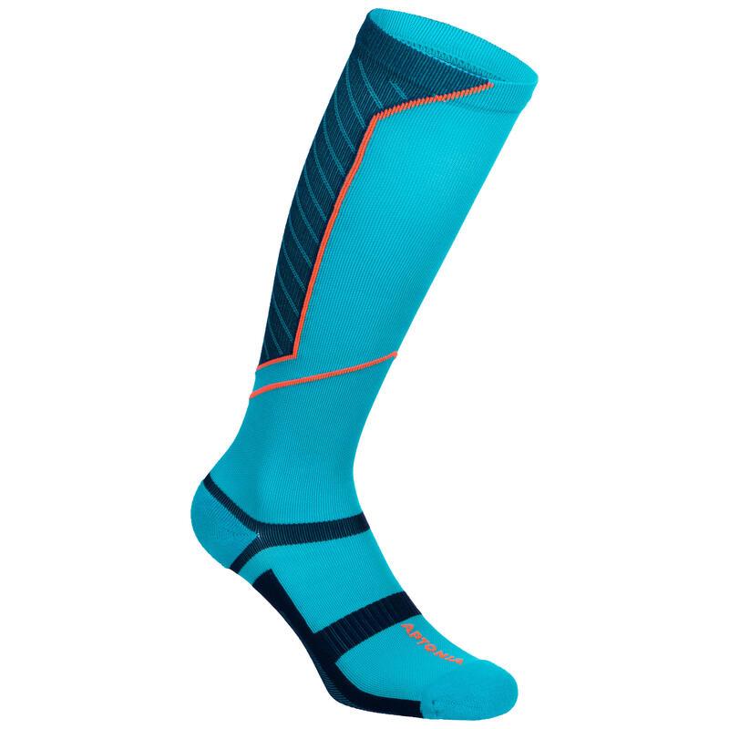 Chaussettes de compression bleue