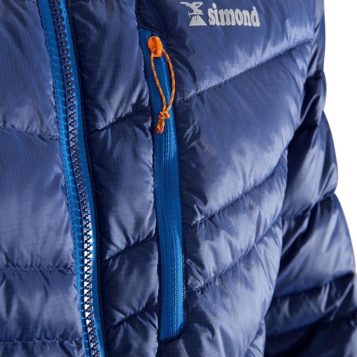 Bergsteiger-Jacke Daunen Alpi Light Isolierung Herren Blau
