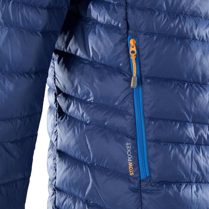 Doudoune en duvet d'alpinisme homme - ALPINISM LIGHT Bleu