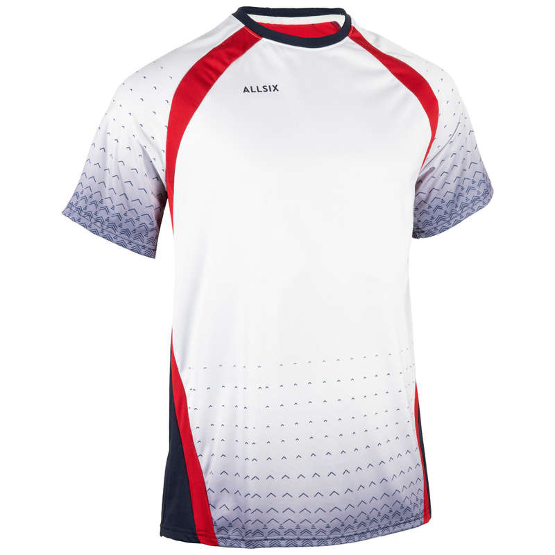 VOLLEY BALL APPAREL Volleyball and Beach Volleyball - V500 Jersey - White ALLSIX - Volleyball and Beach Volleyball