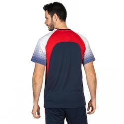 排球長袖運動衫V500-灰色/紅色