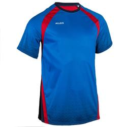 Camiseta de Voleibol Allsix V500 hombre azul y rojo