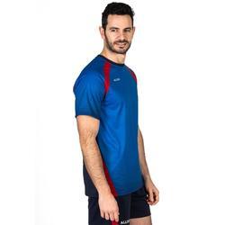 Volleybalshirt V500 voor mannen blauw en rood