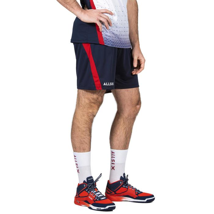 Short de volley-ball V500 homme bleu et rouge