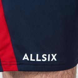 Pantalón corto de Voleibol Allsix V500 hombre azul y rojo