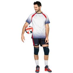 Maillot de volley-ball V500 homme gris et rouge