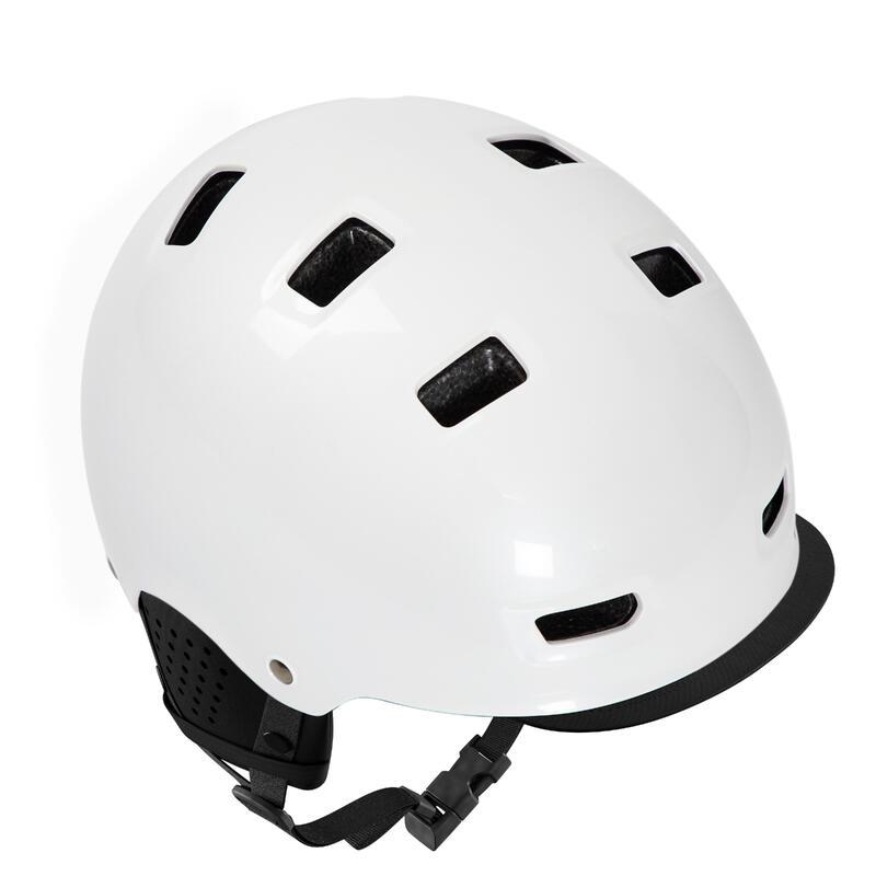 500 Urban Cycling Bowl Helmet - White