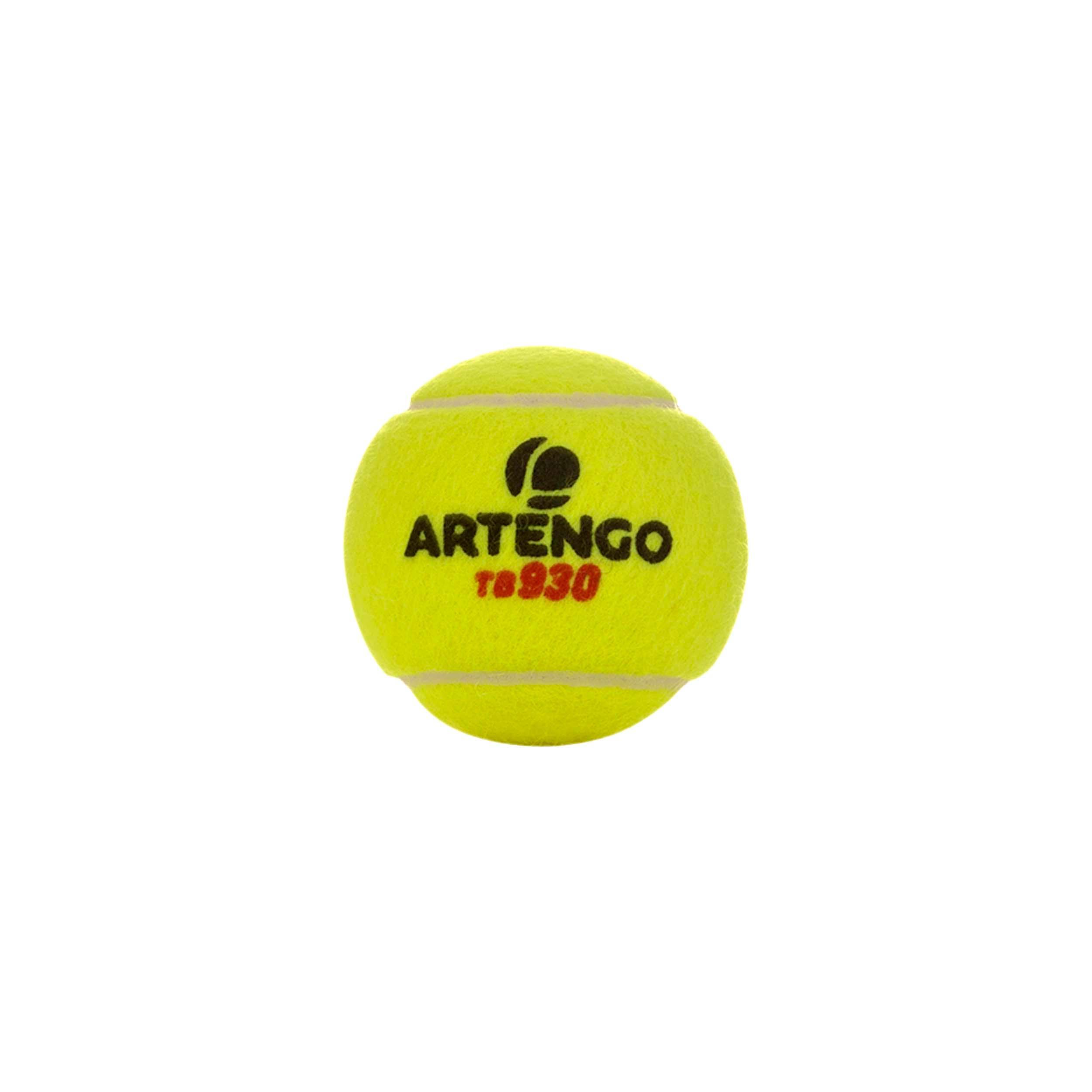 BALLE DE TENNIS PRESSION TB 930 *4 JAUNE