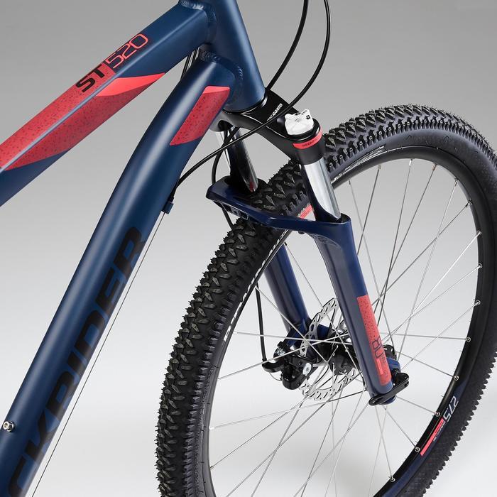 "Mountainbike voor dames ST 520 27.5"" Marineblauw"