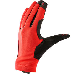 登山車手套ST 100 - 紅色