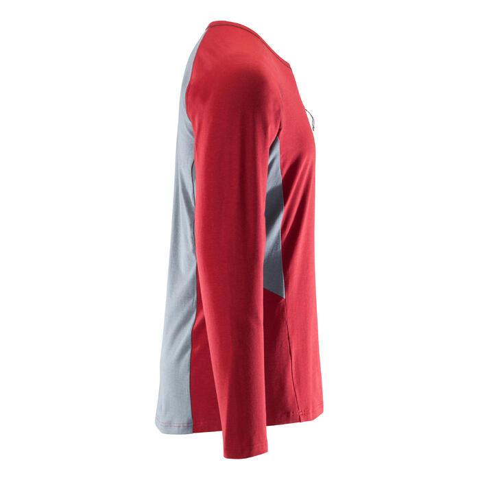 Klimshirt met lange mouwen voor heren stretch bordeaux
